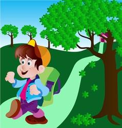 cute boy vector image vector image