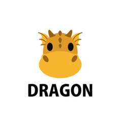cute dragon flat logo icon vector image