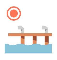 Dock flat vector