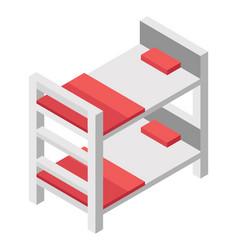Double deck bed vector