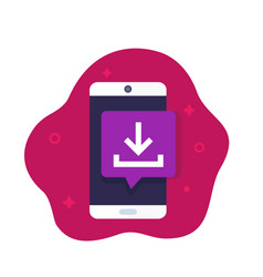Download app icon with phone vector