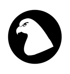 Eagle bird isolated icon vector
