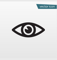 eye icon flat vision symbol isolated on wh vector image