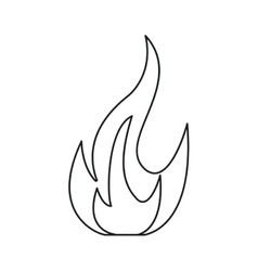 fire flame bright danger icon line vector image