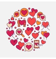 flat love vector image