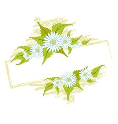 frame with field daisies vector image