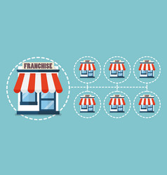 Franchise business in flat style vector