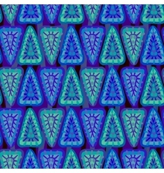 Geometric seamless blue pattern vector