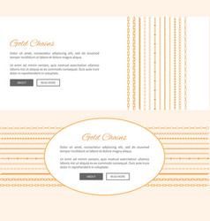 gold chains and text sample vector image
