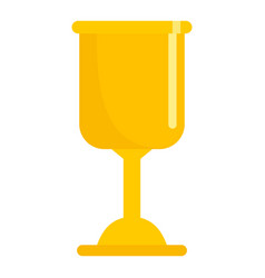 gold soccer cup icon flat style vector image