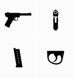 Gun magazine ammunition storage trigger vector