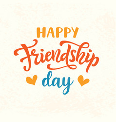 happy friendship day cute poster vector image