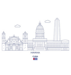 havana city skyline vector image