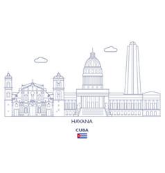 Havana city skyline vector