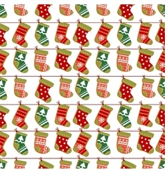 Holiday Christmas seamless background vector image