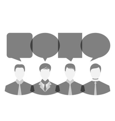 icons of businessmen with dialog speech bubbles vector image