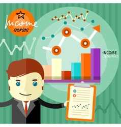 Income dynamics concept vector
