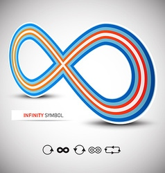 Infinity Symbol Perspective 3D with Infinite Icons vector