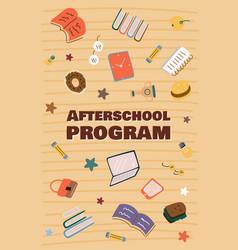 informational poster afterschool program cartoon vector image