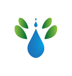 isolated drop water symbol abstract spa logo vector image
