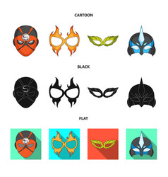 Isolated object of hero and mask symbol vector