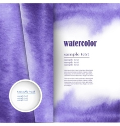 layout for text with an abstract watercolor design vector image