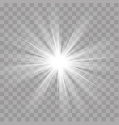 Light rays flash sun star shine radiance effect vector