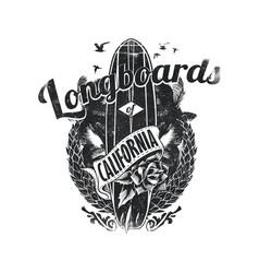 Longboards california vector