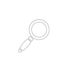 magnifier glass flat icon vector image