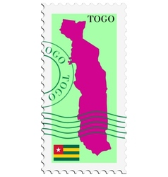 Mail to-from Togo vector