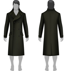 Man coat outlined template vector image