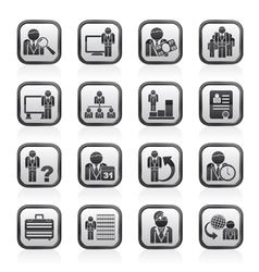 Management and hierarchy icons vector
