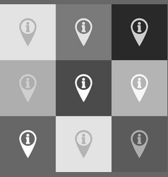 map pointer with information sign vector image