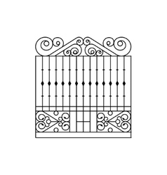 Metal Grid Fencing Design vector