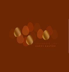 modern fancy textured easter egg set for header vector image