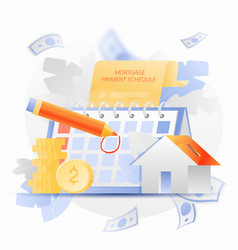Mortgage payment schedule vector