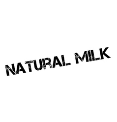 Natural milk rubber stamp vector
