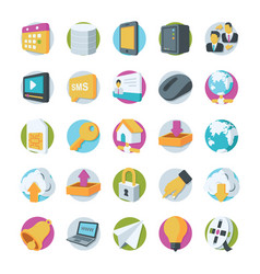 Network and communication icons 2 vector