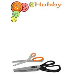 On theme hobbies - needlework vector