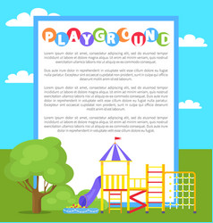 Playground in park poster vector