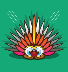 Porcupine cartoon vector