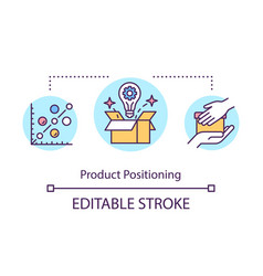 Product positioning concept icon vector