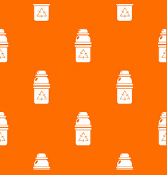 Purified water container pattern orange vector