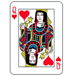 queen of hearts french version vector image