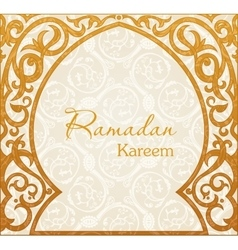 Ramadan Kareem greeting background Arch vector image
