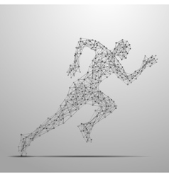 Running man polygonal vector