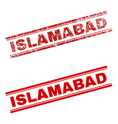 Scratched textured islamabad stamp seal vector