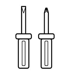 Screwdriver outline vector