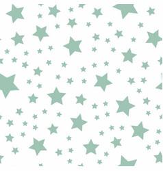 seamless green pastel stars pattern vector image