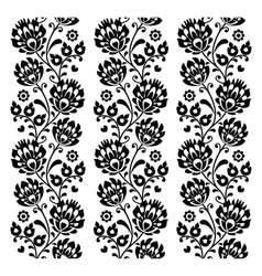 Seamless traditional folk polish pattern in black vector